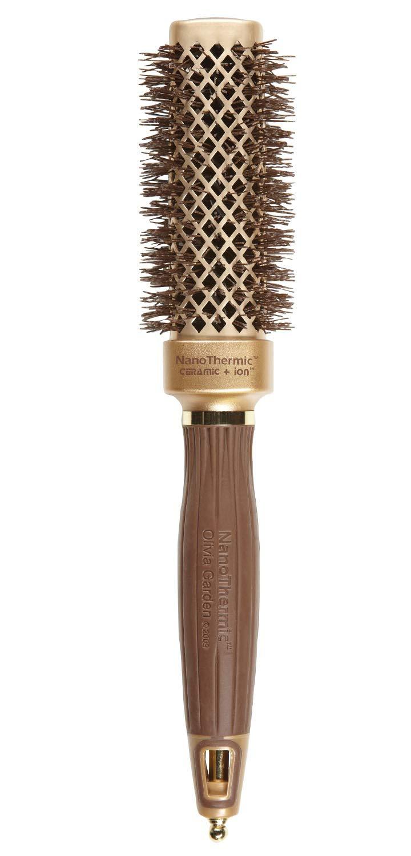 Olivia Garden NanoThermic Ceramic + Ion SQUARE Shaper Thermal Hair Brush NT-S30 (1 1/8