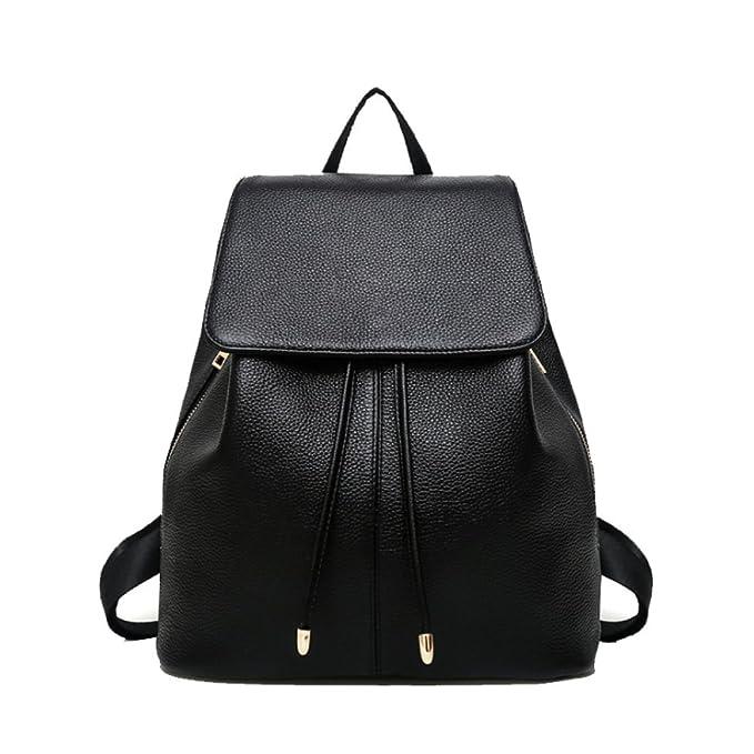 AJLBT Bolsos Mochilas Coreano Casual Moda Mochilas Suaves Bolsas De Viaje Trabajo Compras Bastante,Black-OneSize: Amazon.es: Ropa y accesorios