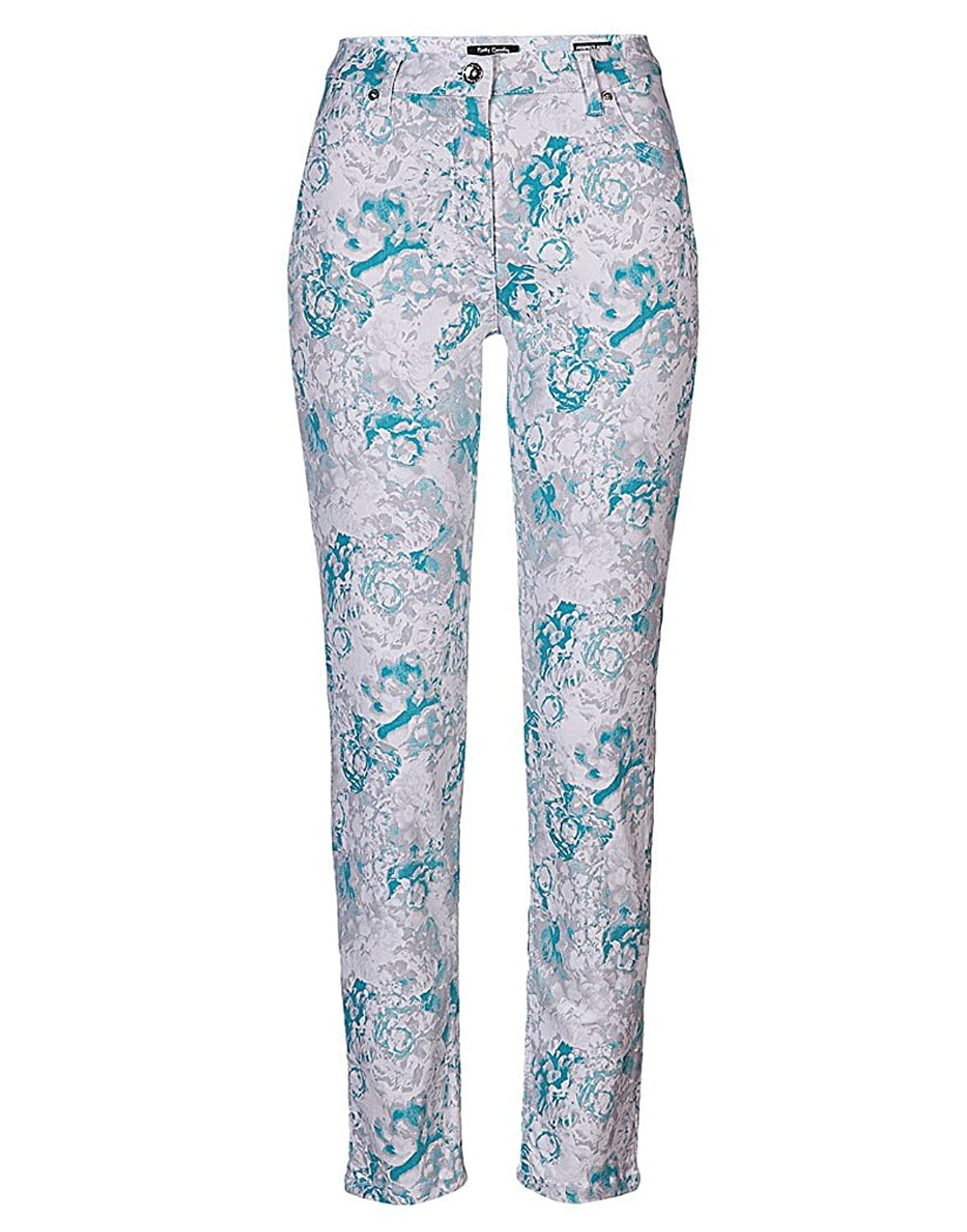 White Betty Barclay Women's Printed Trousers - White