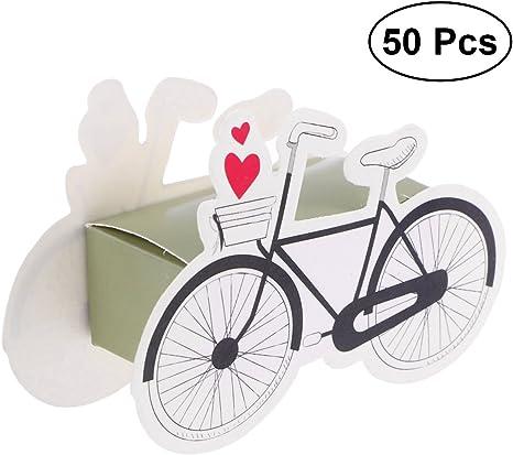 50 cajas para pasteles de chocolate de bicicleta, para boda ...