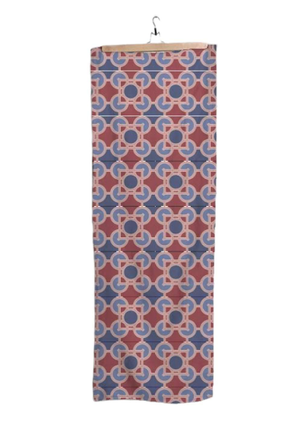 VIDA | Luxfer Crimson & Blue Modal Scarf | Original Artwork Designed by Frank Lloyd Wright by VIDA