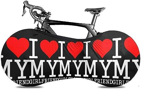 HUA Cubierta de Bicicleta Amo a mi Novia Cubierta de Polvo de ...