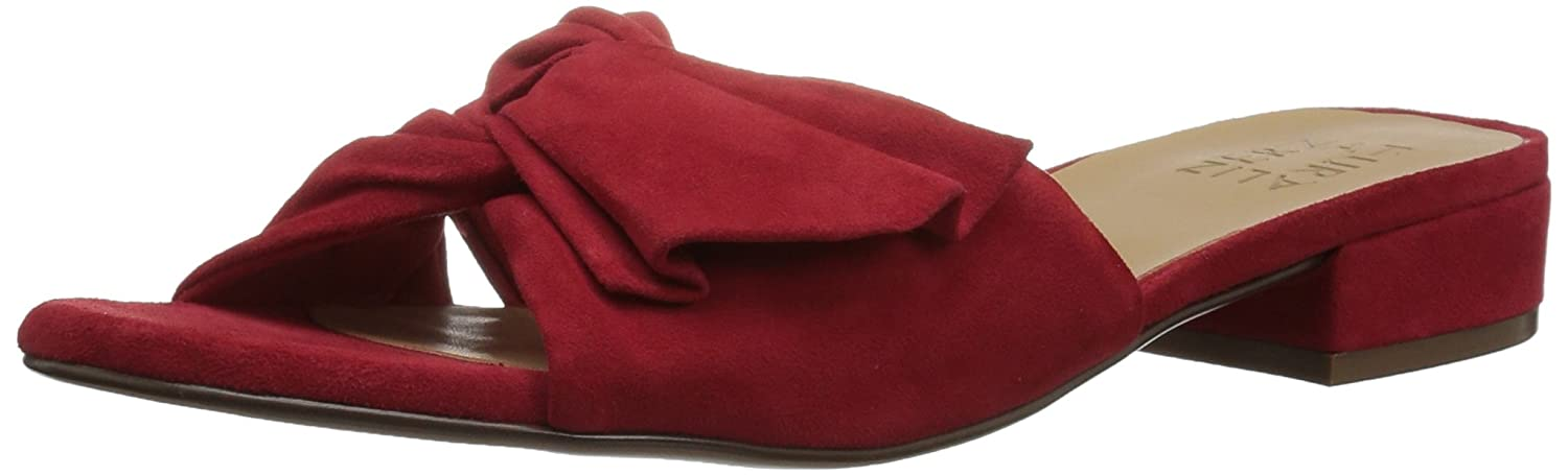 Naturalizer Women's Mila Slide Sandal B073X16GLZ 9 B(M) US|Red Suede
