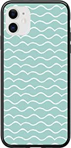 Okteq Case for iPhone 11 Case Shock Absorbing PC TPU Full Body Drop Protection Cover matte printed - light green white By Okteq