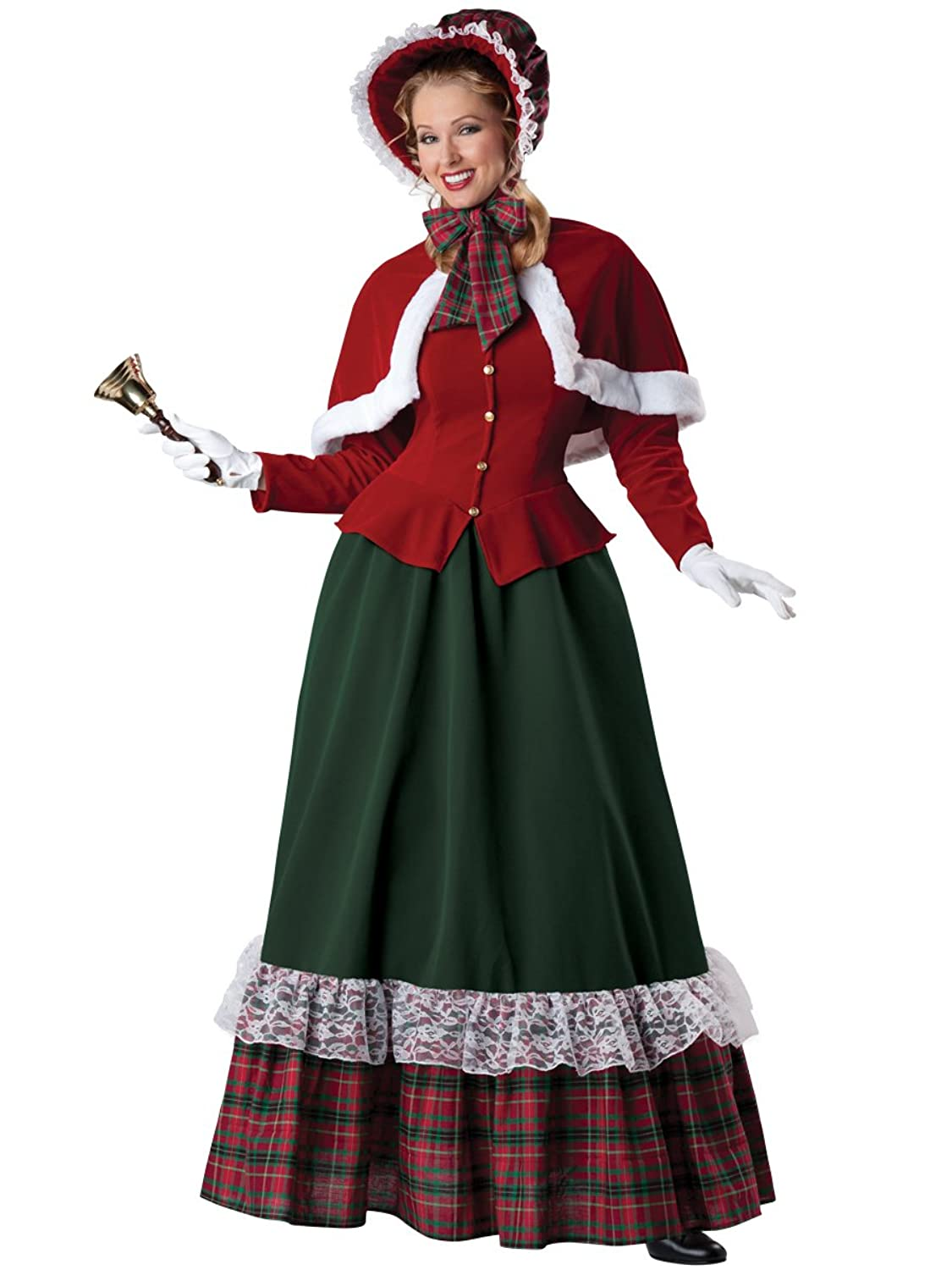 Victorian Dresses, Clothing: Patterns, Costumes, Custom Dresses Yuletide Lady Holiday Costume  AT vintagedancer.com