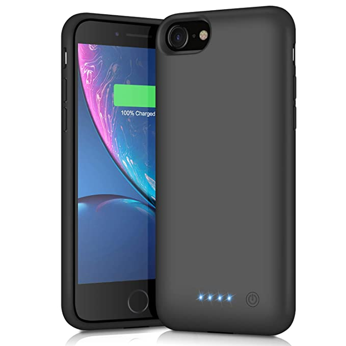 best website 5d691 ad96e Battery Case for iPhone 8/7,6000mAh Rechargeable Charging Case Portable  External Battery Pack for Apple iPhone 7/8 Protective Charger Case Backup  ...