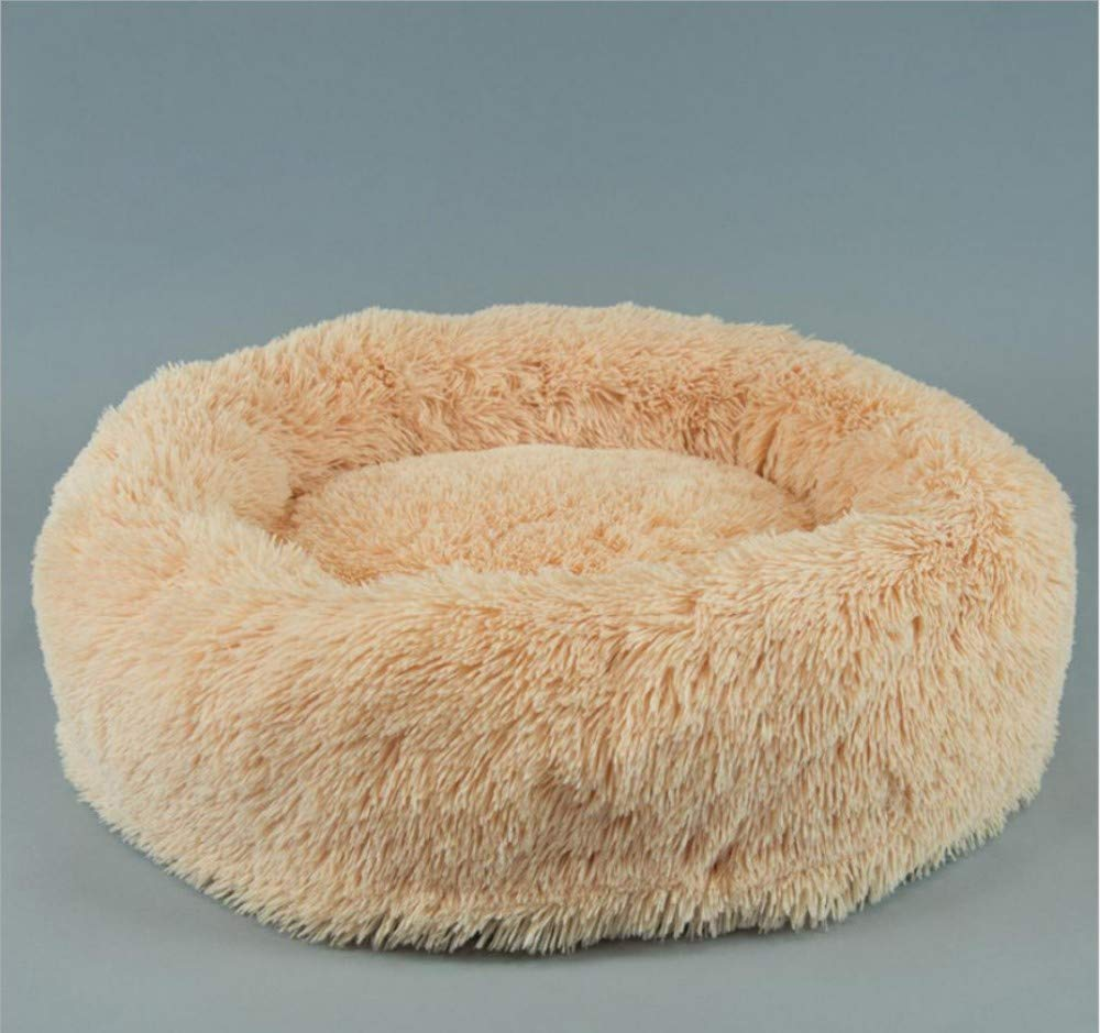 B M(65cm in diameter) B M(65cm in diameter) GZDXHN Dog House Removable And Washable Teddy Autumn And Winter Warm Plush Small Dog Kennel Cat Nest Pet Supplies
