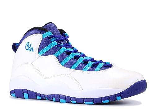 287d52e996c2 Nike Air Jordan 10 X Charlotte Retro White Concord-Blue Lagoon-Black 310805
