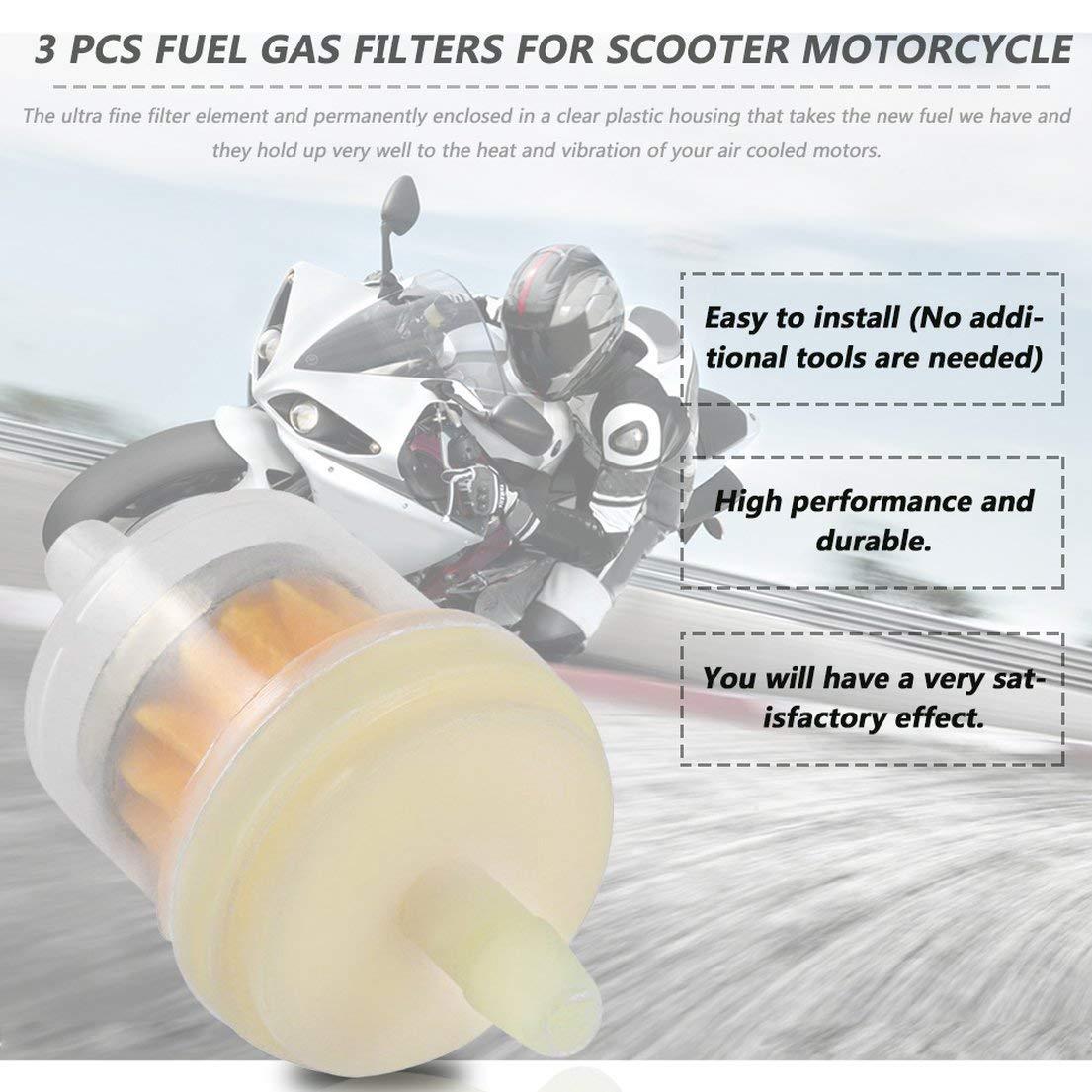 DFH Filtre /à huile universel pour filtres /à gaz de 3 PCS//lot pour moto de scooter pour KART pour ROKETA pour TAOTAO Orange