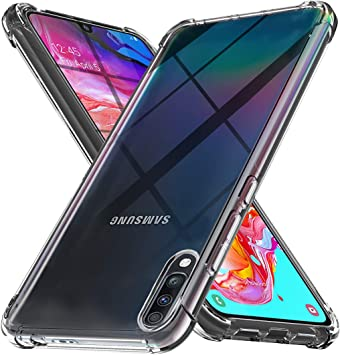 Ferilinso Funda para Samsung Galaxy A70 [Transparente TPU Silicona Carcasa] [10X Anti-Amarilleo] [Compatible con la Cristal Templado Protector de Pantalla][Anti-arañazos](Transparente ): Amazon.es: Electrónica