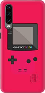 Stylizedd Huawei P30, Slim Snap Basic Case Cover Matte Finish - Gameboy Color - Pink