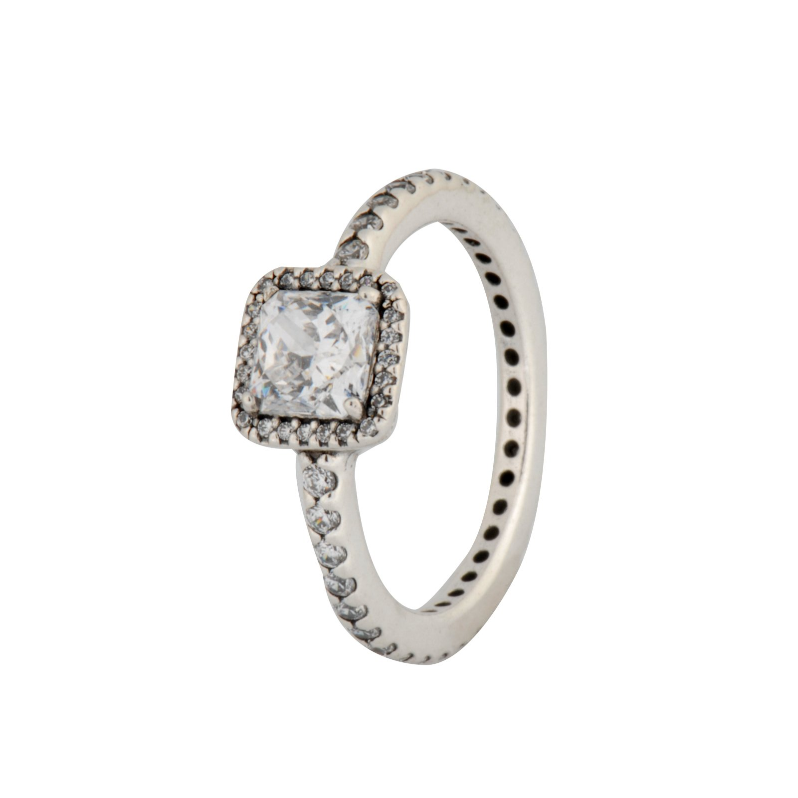 PANDORA Timeless Elegance Ring, Clear CZ 190947CZ-56 EU 7.5 US