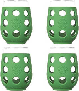 product image for Lifefactory Wine Glass 17oz 4-Pack Green
