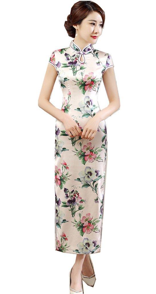 Shanghai Story Women's Cheongsam Dress Keyhole Long Chinese Qipao Dress 6 55