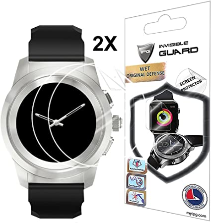 for MyKronoz ZeTime 44 mm SMARTWATCH Screen Protector with Lifetime Replacement Warranty Invisible Protective Screen Guard - ...