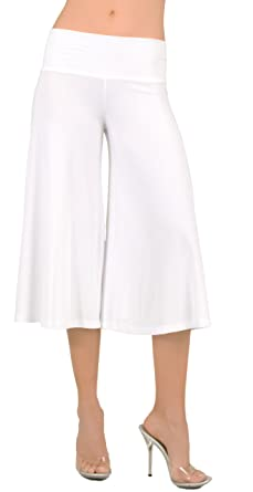 Stretch Gaucho Pants with Banded Waist from Hot Fash Pants ...