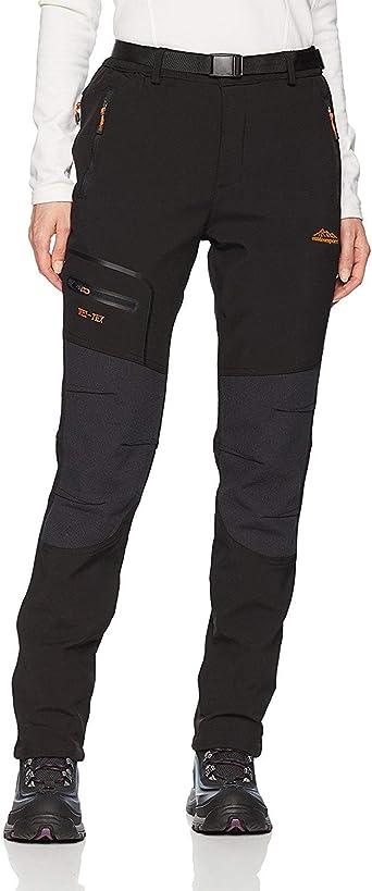JOMLUN Womens Outdoor Waterproof Windproof Fleece Slim Cargo Snow Ski Hiking Pants