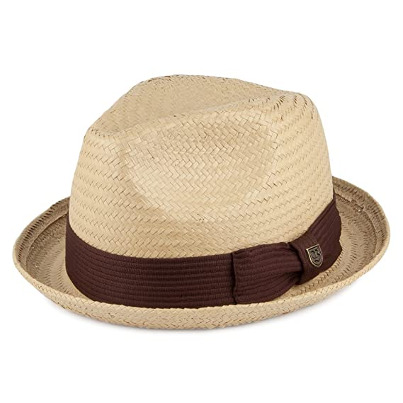 Brixton Hats Castor Straw Trilby Hat - Natural-Brown Large-60cm ... 9fd0fc94be23