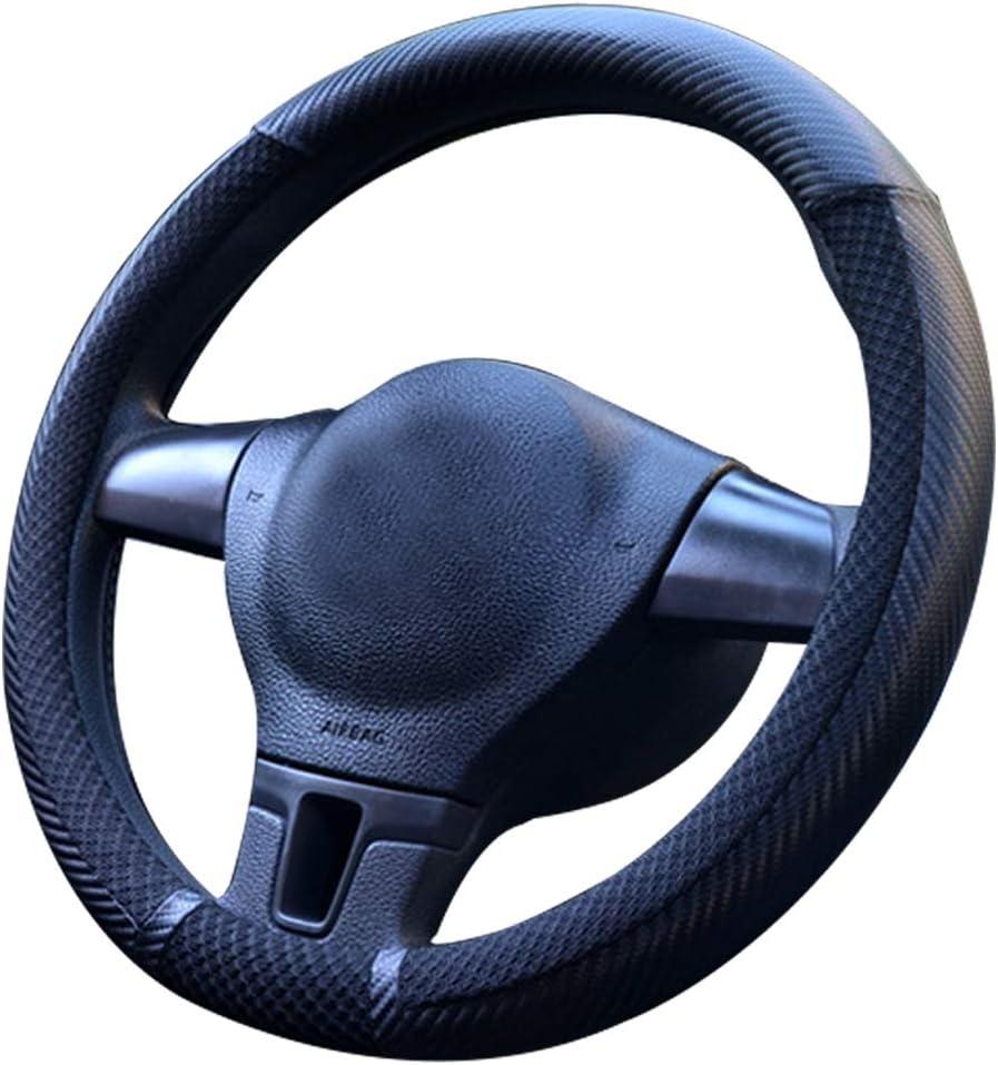 Pahajim Universal Steering Wheel Cover Auto Lenkradhülleheavy Duty Mikrofaser Weich Lenkradbezug 38cm 15 2 Schwarz Auto