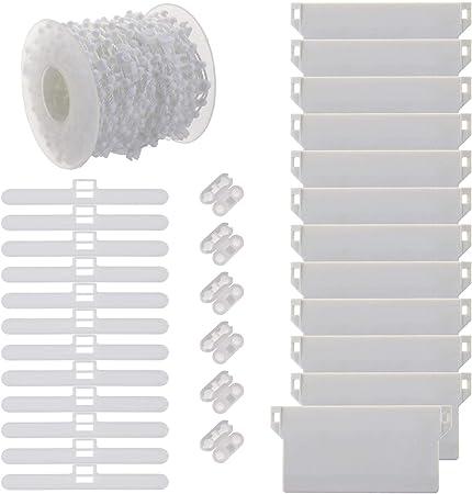 Cha/îne de 10 m et connecteur en Plastique Crochets pour Store Vertical Create Idea 89 mm 31 pi/èces de Poids pour Store Vertical Kit de r/éparation