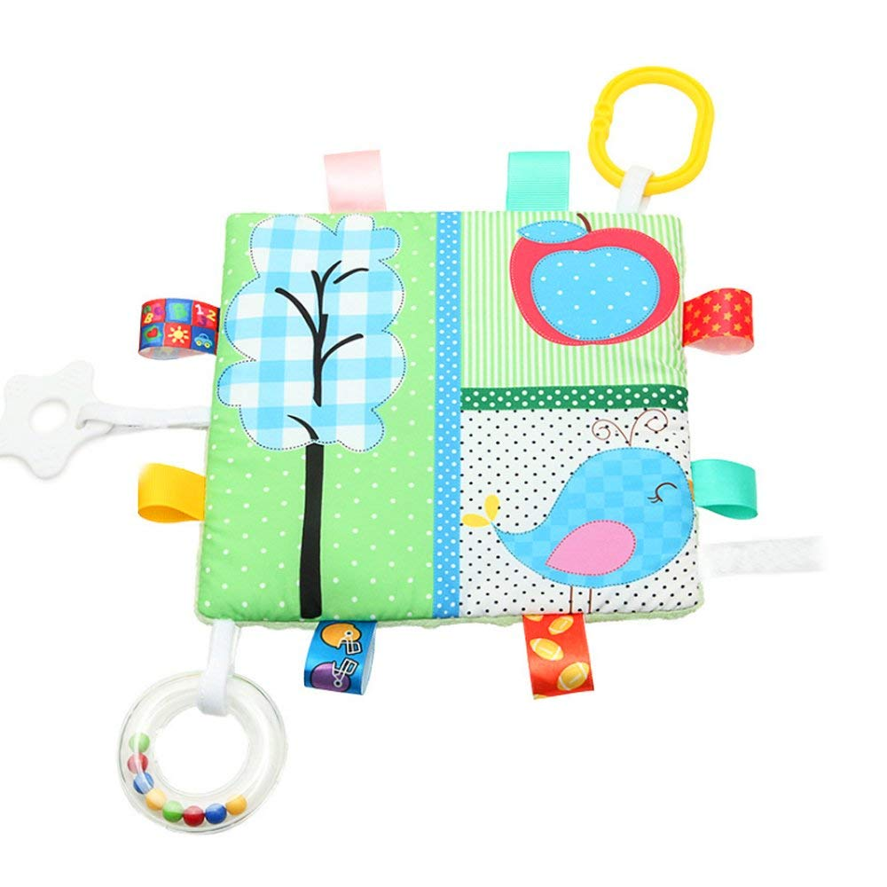 Tcplyn Premium Quality Baby Products Appease Towel Toys, Baby Calm Cloths Towel Blanket Tag Blanket(Little Bird)