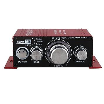 Sothat 12V Hi-Fi Amplificador de Audio Booster MP3 Estereo para ...