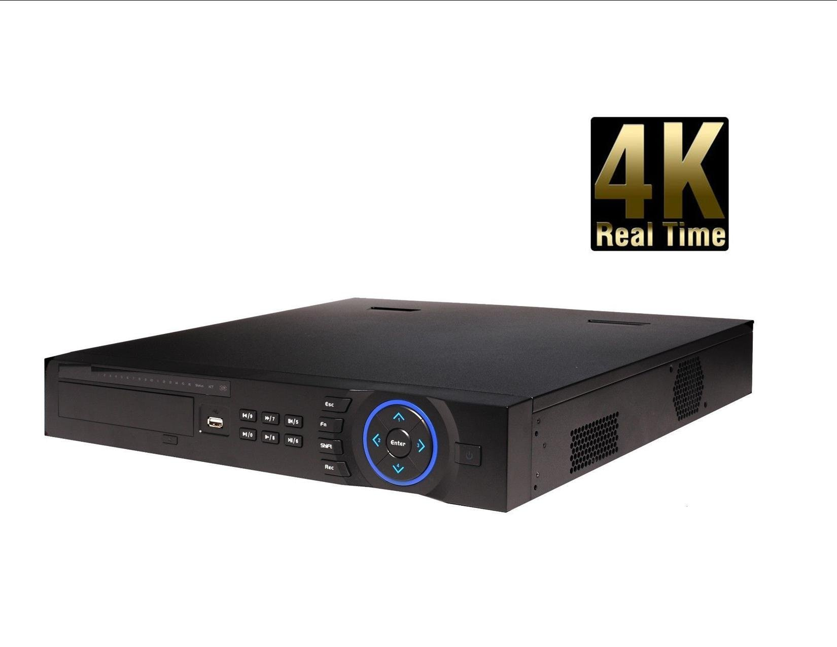 DAHUA 4K NVR4416-16P-4K 1.5U Network video recorder with 16POE Onvif 2.4 Support 4HDD DAHUA 4K NVR Network video recorder