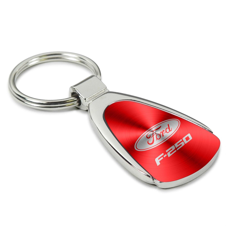 INC Ford Super Duty F-250 Red Tear Drop Key Chain Au-Tomotive Gold