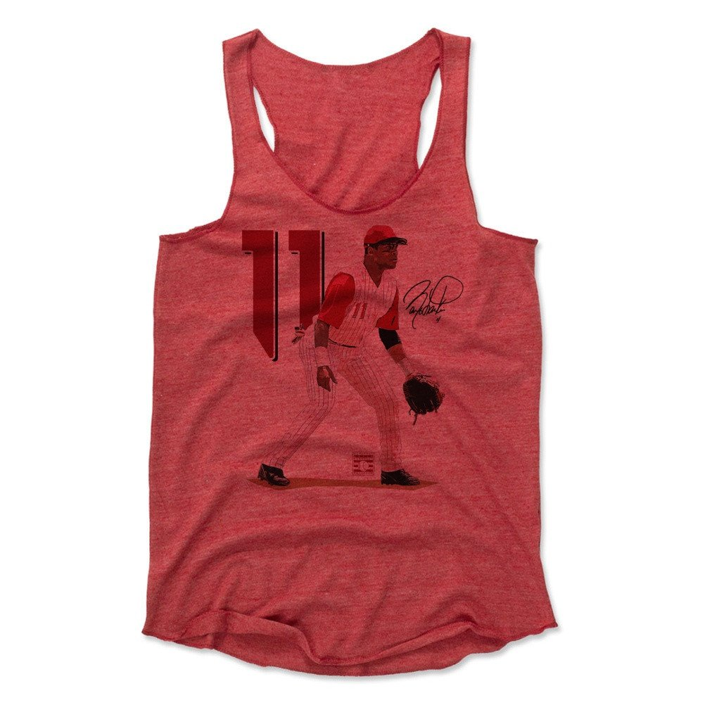 Barry Larkin Signature R Baseball Hall of Fame Women's Tank Top