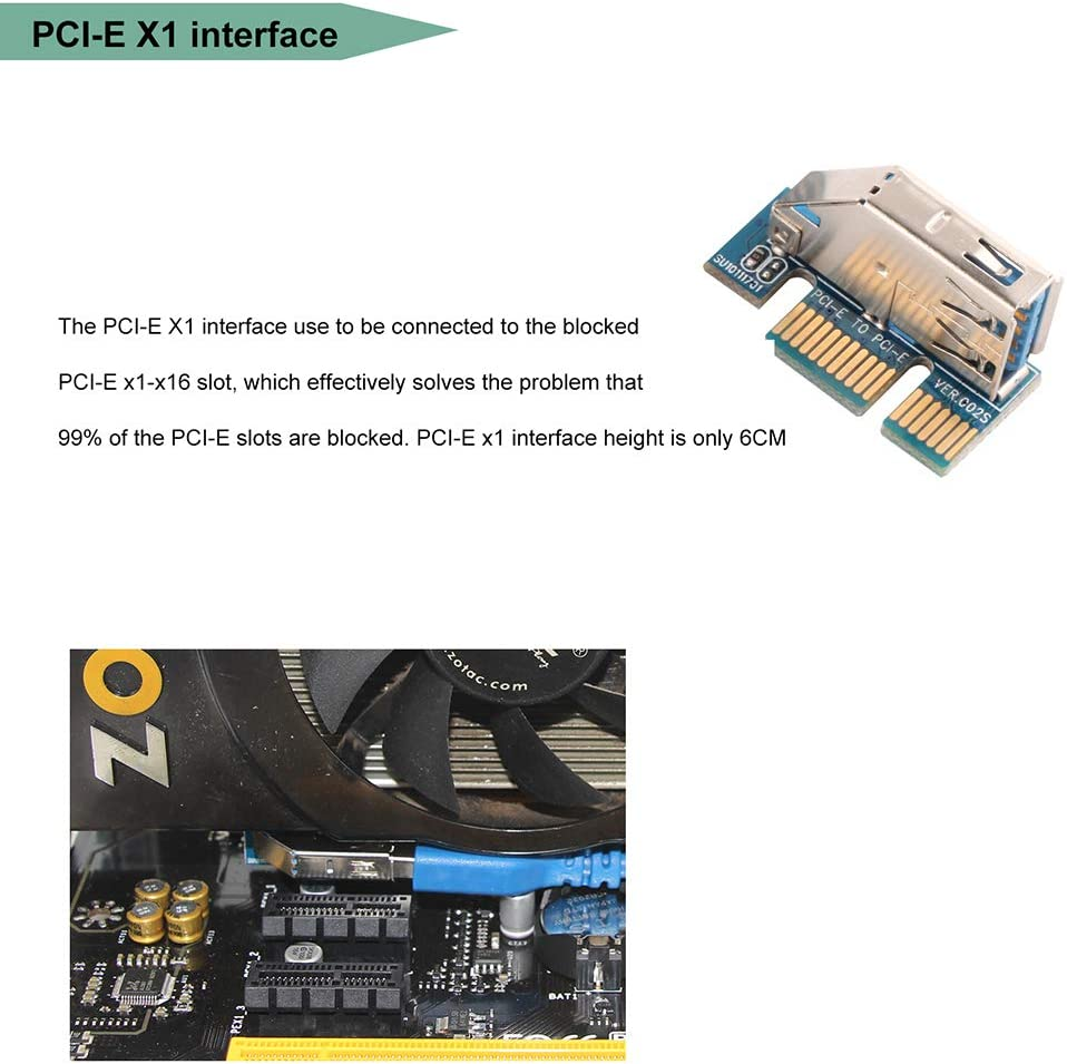 Ubit PCI-E Riser 3M+6PIN+101+104+104S Ubit UEX101 Universalschnur