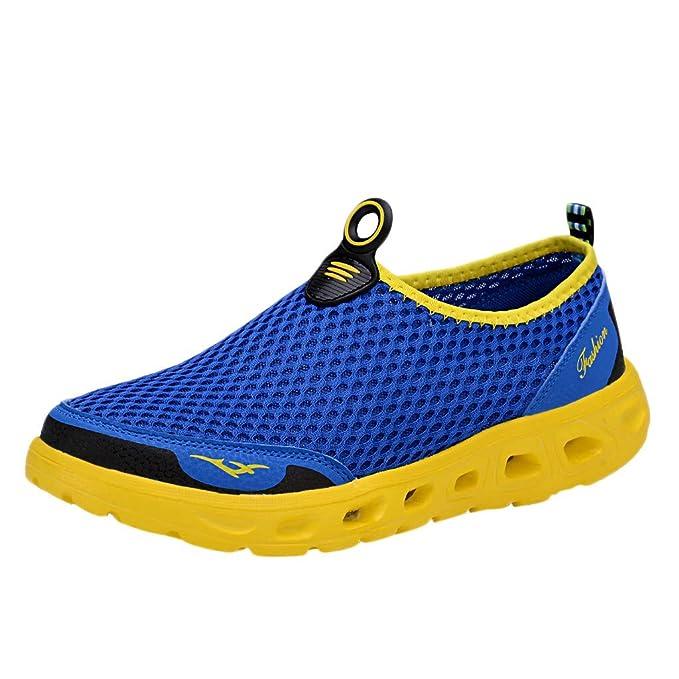 ... Tela De Malla De Viaje Color Redondo Cabeza Vadeando Los Zapatos Planos Calzado De Aire Libre Suave Zapatillas: Amazon.es: Ropa y accesorios