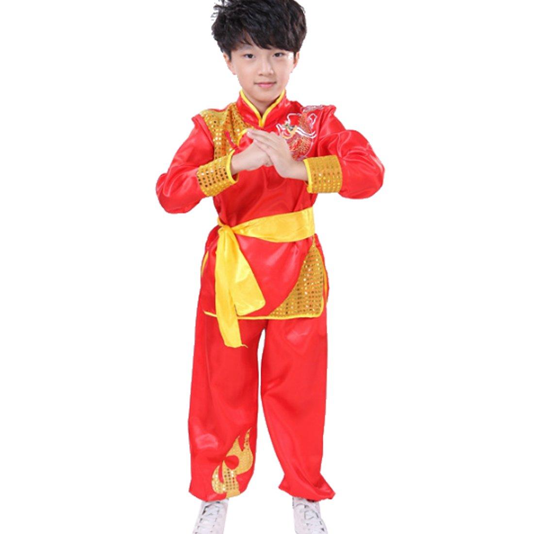 Aiweijia Boy Girl Martial Arts Clothing Sportswear Kungfu Performance Clothing