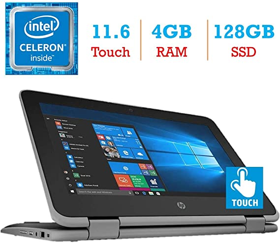HP ProBook x360 11 EE G3 2-in-1 11.6-inch Touchscreen Display Laptop PC (Intel Quad Core Celeron N4100 Processor