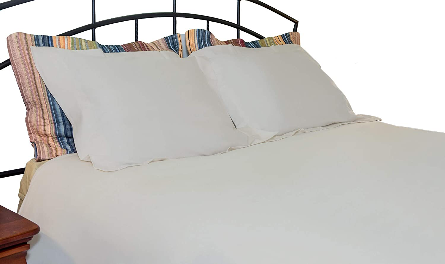 500 Thread Count Whisper Organics 100/% Organic Cotton Duvet Cover Full//Queen, White GOTS Certified