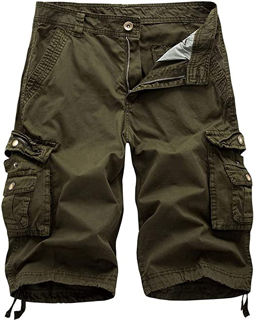 "Nautica Mens Cargo Shorts Classic Fit Stretch 10/"" Gray Variety Sizes"