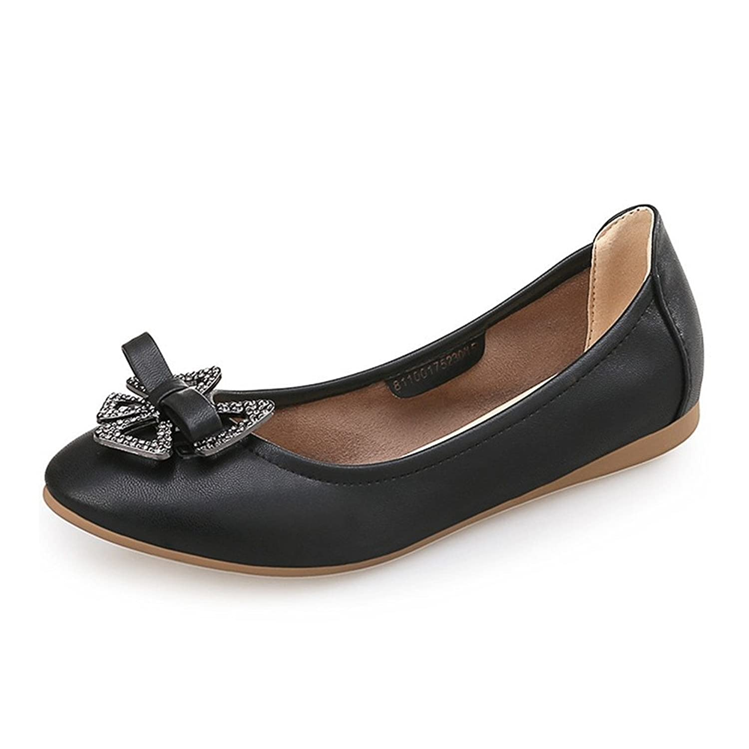 Always Pretty Women's Casual Leather Loafer Slip On Flat