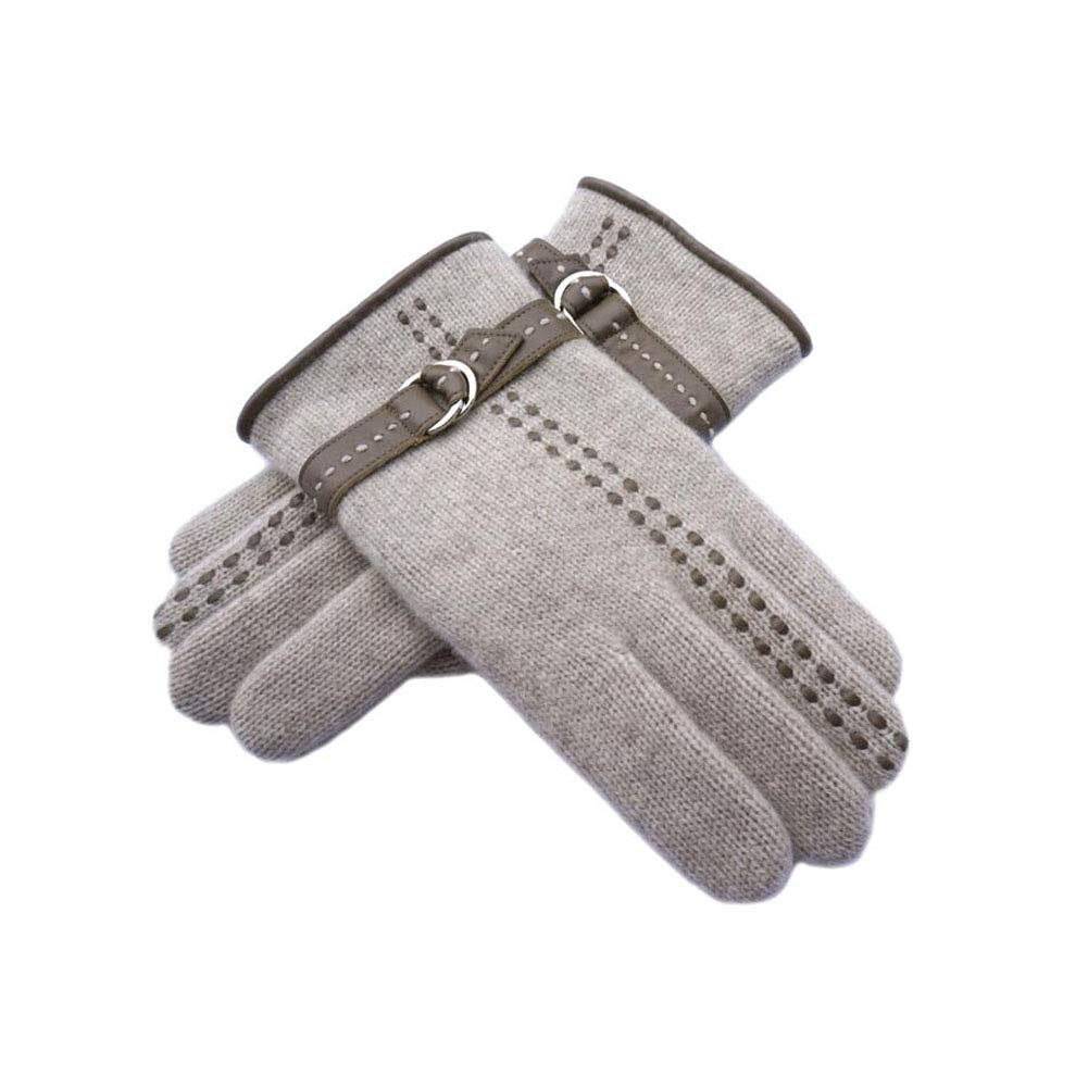 Dall Gloves Gloves Men's Cycling Sport Running Gloves Breathable Soft Warm (Color : Beige, Size : One Size) by DALL Clothing Accessories