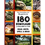 180 Dinosaur Learning Games and Poems: Fun-Schooling for Beginners - Read, Write, Spell & Draw - Level A (Pocket Sized Fun-Schooling Books - By The Thinking Tree) (Volume 2)