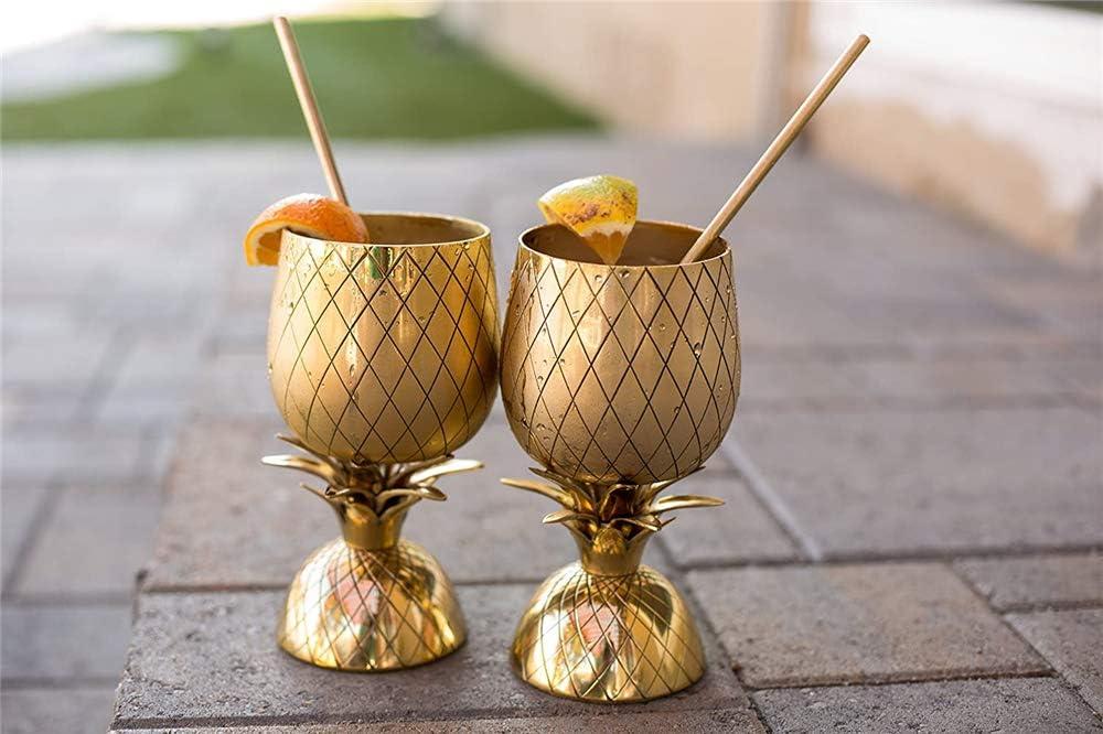 xxz Vaso de Copa de piña de Cobre con Paja de Cobre, licuadora de ...