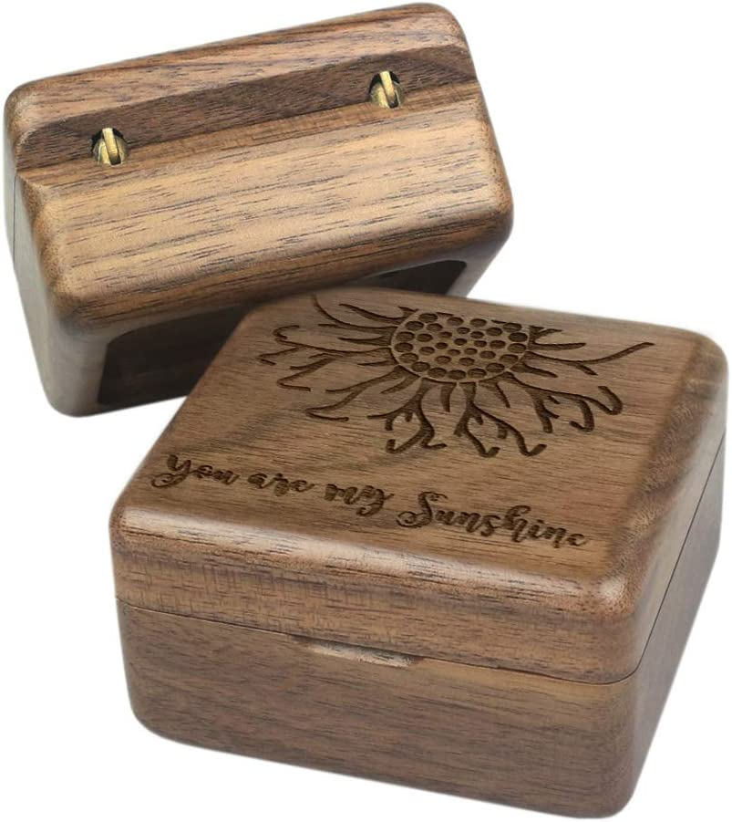 Sinzyo You are My Sunshine Music Box Gift for Christmas,Birthday,Valentines Day,Best Gift for Kids,Friends Walnut Wood Box