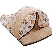 Tonsee Haustier Abnehmbare Hund Katze Bett Nest Herbst Winter Warme Mode Wolle Nachahmung Schaffell Niedlich Gedruckt Bett Rest Pet Kissen Steppdecke Weich Bequem Schlafmatte
