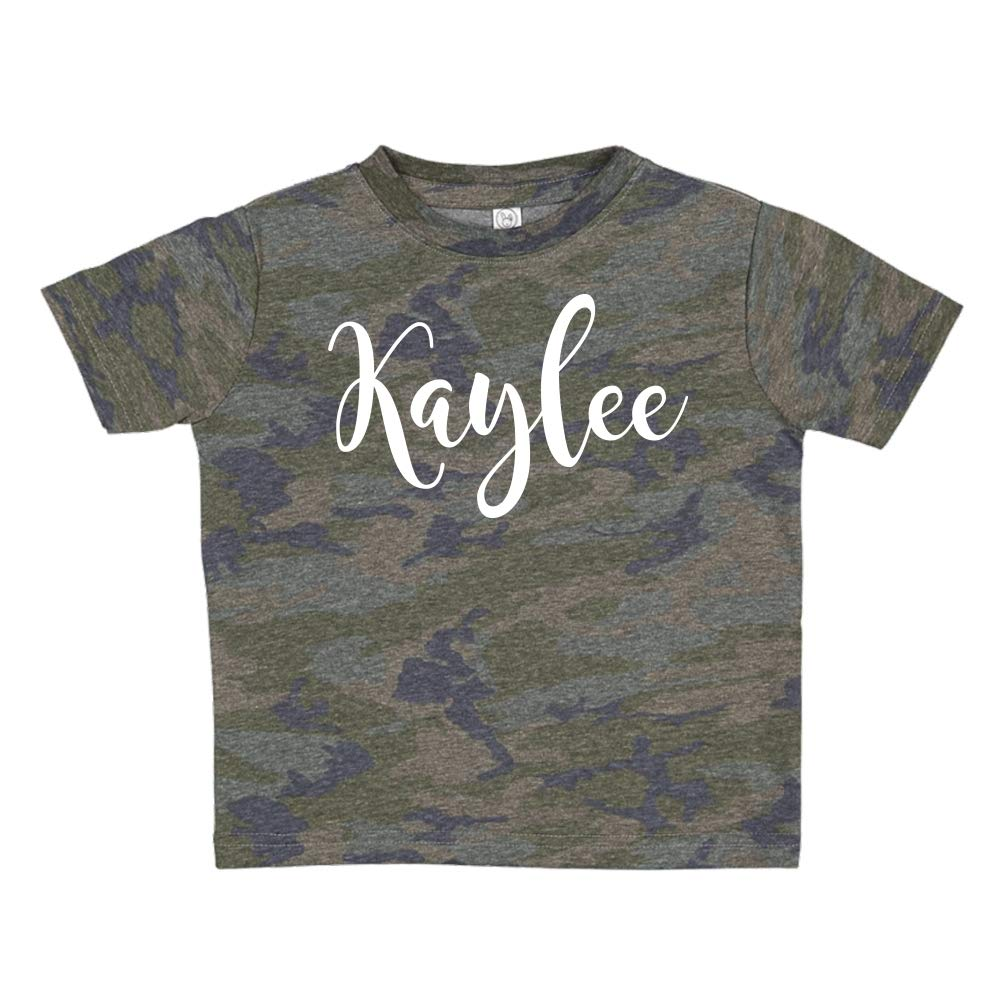 Personalized Name Toddler//Kids Short Sleeve T-Shirt Mashed Clothing Kaylee