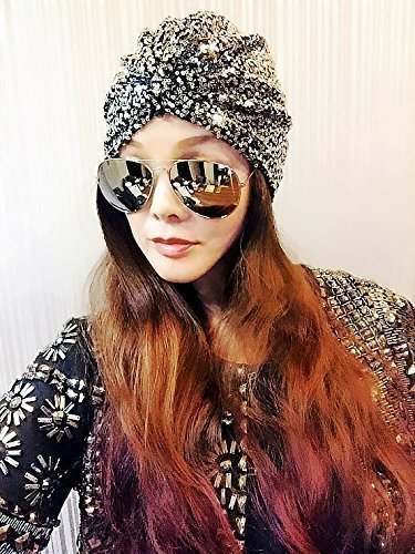 Best Choice And Best DiscountsSilver Sequin Turban,Womens Turban,
