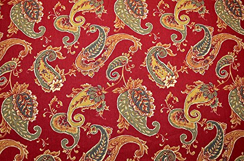 Deep Red Floral Print Beacon Hill Brick Roth & Tompkins Fabric