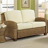 Home Styles 5401-60 Naples Cabana Banana Love Seat, Honey Finish