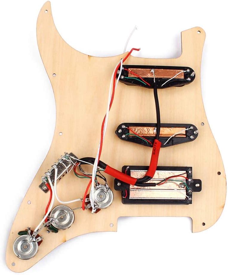 HEALLILY Loaded Pickguard Humbucker Pickguard Pickups Set For Fender Strat Guitar