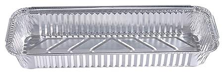 HorBous Bandeja Rectangular Papel de Aluminio con Tapa para ...