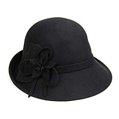 030d0a397 Fedora Hats for Women Winter Trilby Hat Female Fedoras Wool Felt ...