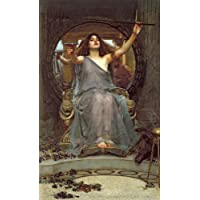 Canvas Print Reproduction - 16X24 Inch A Mermaid by John William Waterhouse - Neoclassicism Mythology Paintings Wall Art