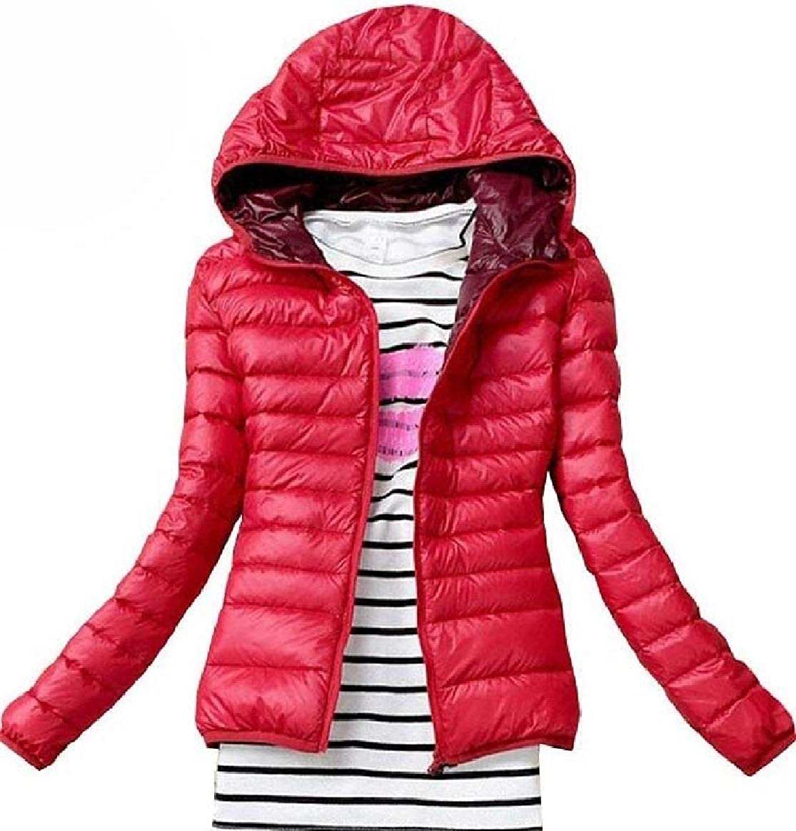 pujingge-CA Women Parka Winter Hooded Packable Quilted Lightweight Down Jacket Coat